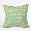 DENY Designs Jacqueline Maldonado Leaf Dot Stripe Throw Pillow