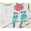 DENY Designs Betsy Olmsted Holiday Birds Plush Fleece Throw Blanket