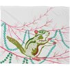 DENY Designs Betsy Olmsted Holiday Chipmunk Plush Fleece Throw Blanket