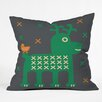 DENY Designs Gabriela Larios Reindeer and Birdy Throw Pillow