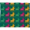DENY Designs Gabriela Larios Reindeers Plush Fleece Throw Blanket