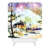 DENY Designs Ginette Fine Art Cabin In The Snow Shower Curtain