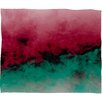 DENY Designs Caleb Troy Zero Visibility Poinsettia Ombre Plush Fleece Throw Blanket