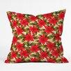 DENY Designs Aimee St Hill Poinsettia Throw Pillow