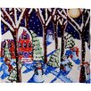 DENY Designs Renie Britenbucher Magic Snowmen Plush Fleece Throw Blanket