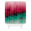 DENY Designs Caleb Troy Zero Visibility Poinsettia Ombre Shower Curtain