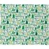 DENY Designs Zoe Wodarz Wonderland Forest Plush Fleece Throw Blanket