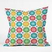 DENY Designs Andi Bird Sierra Snowflakes Throw Pillow