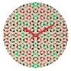DENY Designs Caleb Troy Holiday Tone Shards Wall Clock