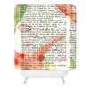 DENY Designs Susanne Kasielke Christmas Dictionary Art Shower Curtain