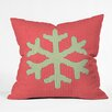 DENY Designs Ingrid Padilla Snowflake Throw Pillow