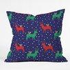 DENY Designs Zoe Wodarz Geo Pop Deer Blue Throw Pillow