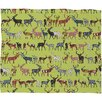 DENY Designs Sharon Turner Pistachio Spice Deer Plush Fleece Throw Blanket