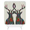 DENY Designs Sharon Turner Poinsettia Deer Shower Curtain