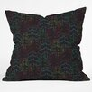 DENY Designs Zoe Wodarz Forest Neon Lights Throw Pillow