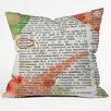 DENY Designs Susanne Kasielke Christmas Dictionary Art Throw Pillow