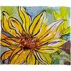 DENY Designs Ginette Fine Art Sunflower Ribbon Throw Blanket