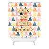 DENY Designs Happee Monkee Joy To The World Shower Curtain