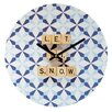 DENY Designs Happee Monkee Let It Snow Wall Clock