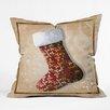 DENY Designs Madart Inc. Vintage Stocking Throw Pillow