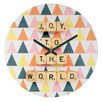 DENY Designs Happee Monkee Joy To The World Wall Clock