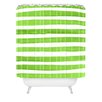 DENY Designs Social Proper Spruce Stripes Shower Curtain