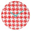 DENY Designs Social Proper Candy Houndstooth Wall Clock