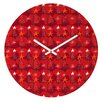 DENY Designs Julia Da Rocha Christmas Trees Wall Clock