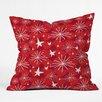 DENY Designs Julia Da Rocha Snow and Stars Throw Pillow