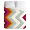 DENY Designs Karen Harris Modernity Solstice Warm Chevron Duvet Set