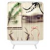 DENY Designs The Light Fantastic Christmas Card Shower Curtain