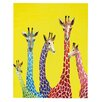 "DENY Designs ""Jellybean Giraffes"" by Clara Nilles Painting Print Gallery Wrapped on Canvas"