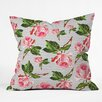DENY Designs Allyson Johnson Roses and Stripes Indoor/outdoor Throw Pillow