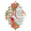 DENY Designs Susanne Kasielke Santa Claus Dictionary Art Wall Clock