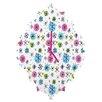 DENY Designs Sam Osborne Snowflake Doodles Wall Clock
