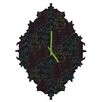 DENY Designs Zoe Wodarz Forest Neon Lights Wall Clock