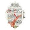 DENY Designs Susanne Kasielke Christmas Dictionary Art Wall Clock