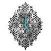 DENY Designs Ruby Door Snow Leopard Snowflake Wall Clock
