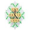 DENY Designs Happee Monkee Joy Peace Love Wall Clock