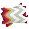 DENY Designs Karen Harris Modernity Solstice Warm Chevron Pillowcase