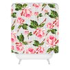 DENY Designs Allyson Johnson Roses and Stripes Polyester Shower Curtain