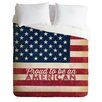 DENY Designs Anderson Design Group Proud to be an American Flag Lightweight Duvet Cover