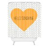 DENY Designs Allyson Johnson Hello Sunshine Heart Polyester Shower Curtain