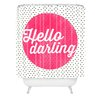 DENY Designs Allyson Johnson Hello Darling Dots Polyester Shower Curtain