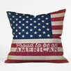 DENY Designs Anderson Design Group Proud to be an American Flag Throw Pillow