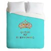 DENY Designs Bianca Green Queen Of Everything Lightweight Duvet Cover