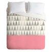 DENY Designs Georgiana Paraschiv Silver Triangles Lightweight Duvet Cover
