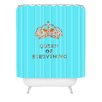 DENY Designs Bianca Green Queen Of Everything Polyester Shower Curtain