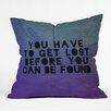 DENY Designs Leah Flores Lost x Found Throw Pillow