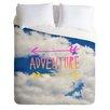 DENY Designs Leah Flores Adventure Sky Duvet Set